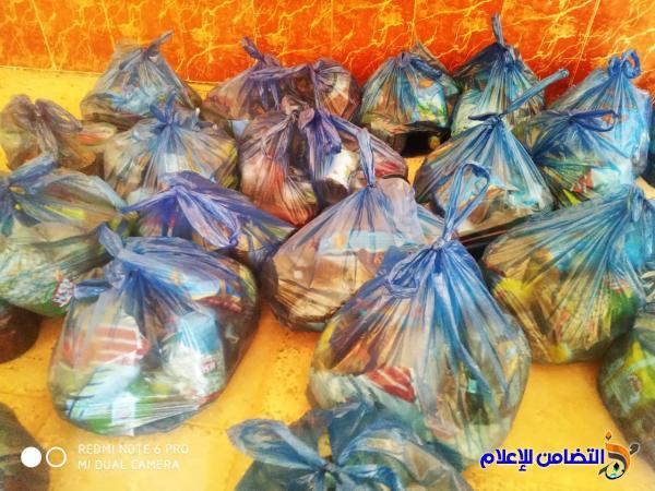مكتب مبرات التضامن للأيتام  يقوم بتجهيز مستلزمات الزواج لأحد الايتام في ناحية المنار وتوزيع سلات غذائية في قضاء الاصلاح