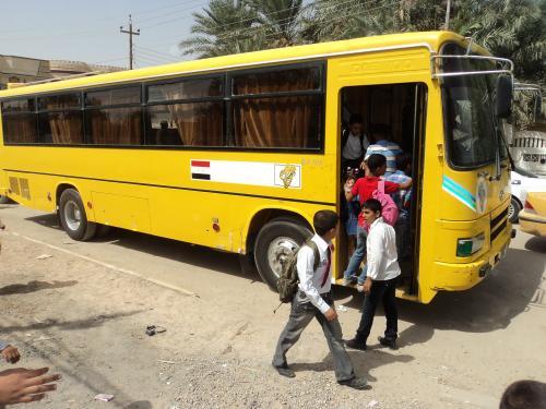 نظام النقل المجاني في مبرات التضامن لرعاية وتأهيل الأيتام بمحافظة ذي قار