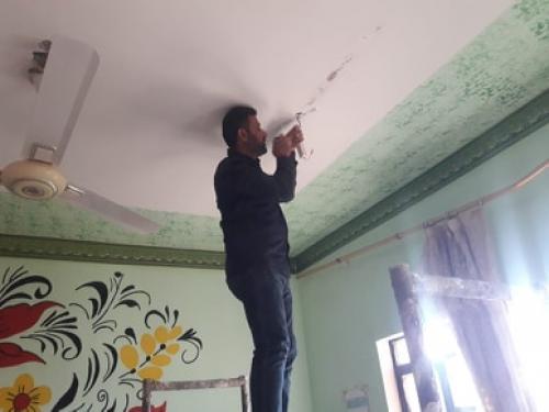 قسم الخدمات في مبرات التضامن للأيتام ينجز مجموعة من أعمال الصيانة في عدد من المبرات