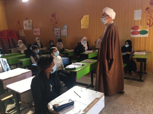 الشيخ الناصري يدعو التلاميذ في مبرة التضامن الاولى  إلى استخدام المنصات الالكترونيــة واغتنام الفرص لرفع المستوى العلمي