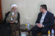 إثناء لقائه مع الشيخ الناصري..عضو لجنة حوار الأديان في البرلمان الأوربي:يشيد بدور المرجعية الدينية العليا