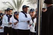 بالصور: تلاميذ مبرة التضامن الخامسة للأيتام يشاركون في مراسيم رفع الراية الحسينية في الفضلية