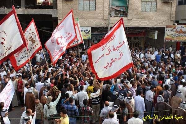 الاف المتظاهرين في الناصرية دعما للجيش العراقي – تقرير مصور -